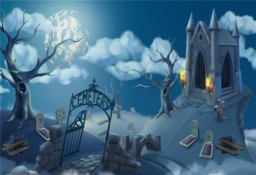 Magic Castle Halloween Photography Backdrops