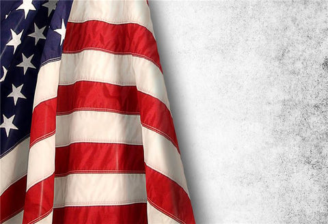 Grey Wall America Flag Independence Day Backdrop for Photography