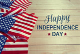 Happy Independence Day Backdrops Flag Wood Wall Photography