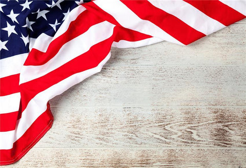 White Wood Wall Flags  Independence Day Backdrops