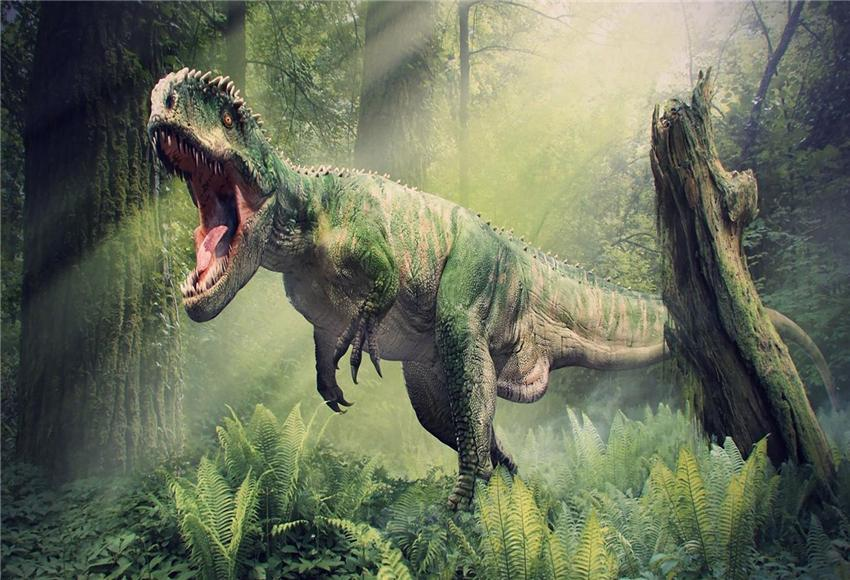 Tyrannosaurus Rex Ancient Forest Tropical Photography Backdrop