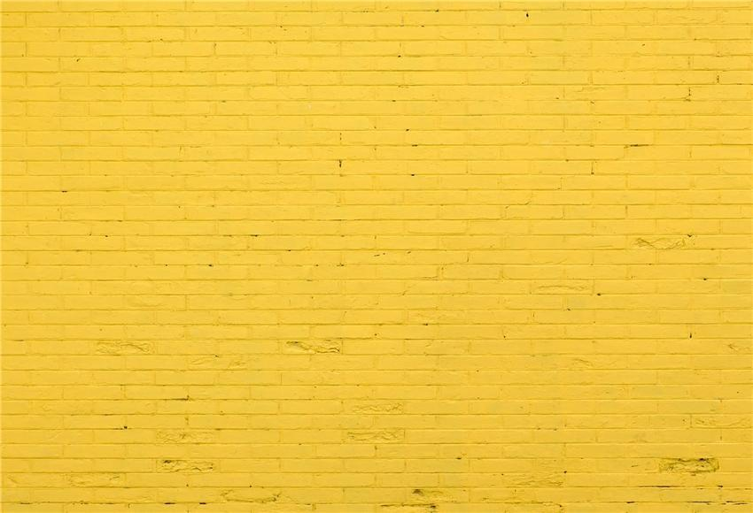 Bright Yellow Brick Wall Photography Backdrops