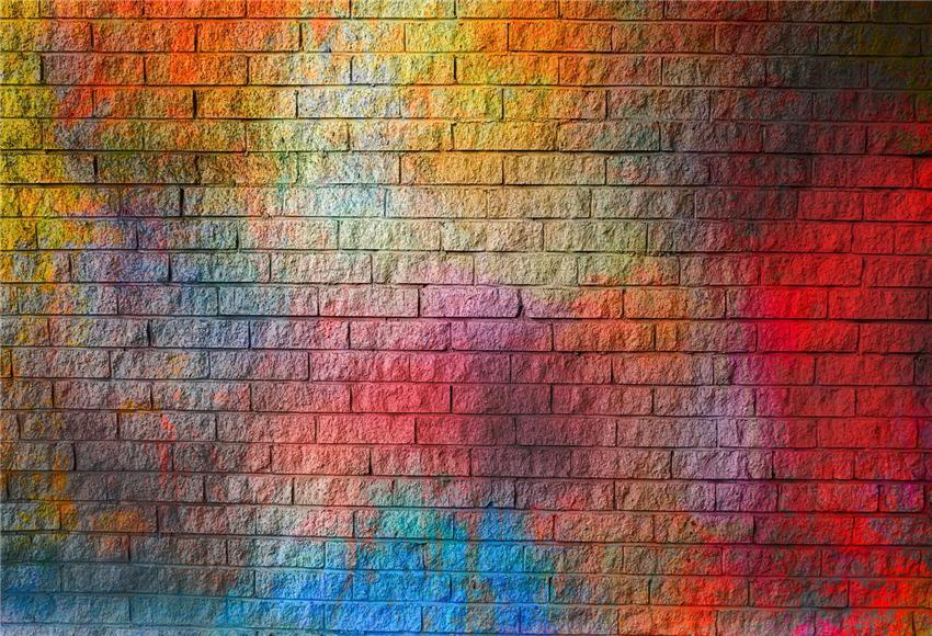 Graffiti Brick Wall Vintage Photography Backdrops