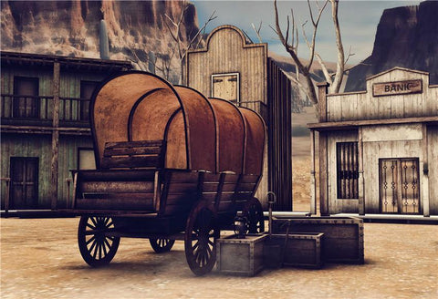 Wild West Town Retro Photo Studio Backdrops