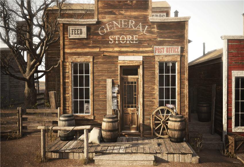 General Store Vintage Wooden Photography Barn Photo Backdrops