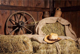 Autumn Straw Wooden Photography Backdrops