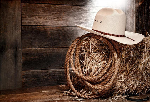 Autumn Barn Straw Rope Photo Backdrop for Photography Prop