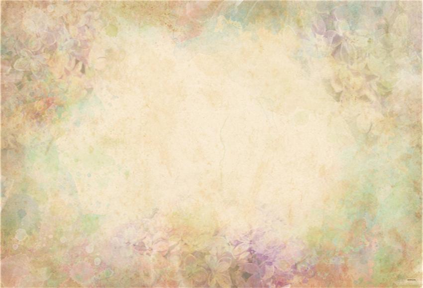 Abstract Floral Wall Portrait Backdrops