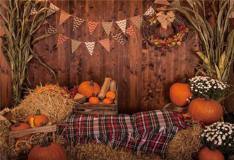 Brown Wood Rustic Halloween Backdrops