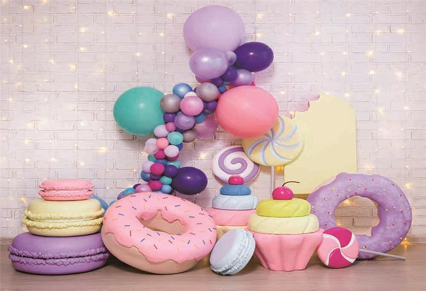 White Brick Wall Balloon Baby Show Backdrop