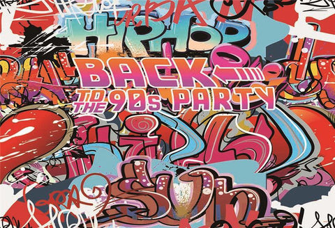 Back to 90th Party Hip Hop Graffiti Backdrops