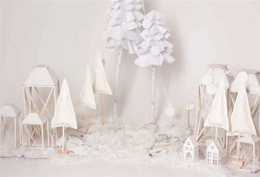 White Christmas Snow Winter Photo Backdrop for Party