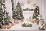 Wood Floor Gift Christmas Photography Backdrops