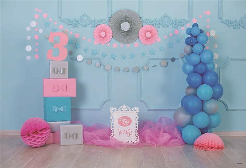 3th Baby Show Decor Backdrops for Party