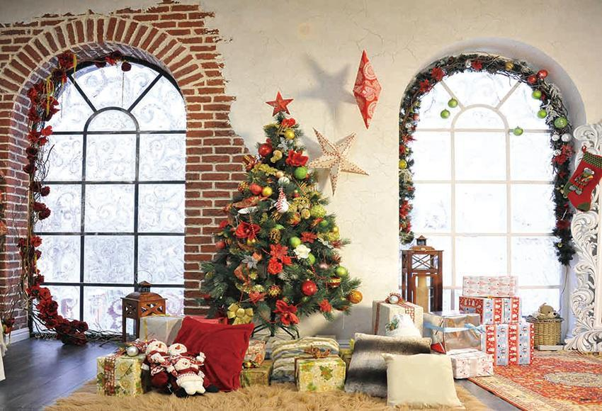 Christmas Window Photography Backdrops