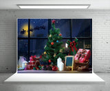 Santa Claus Christmas Window Photo Backdrops