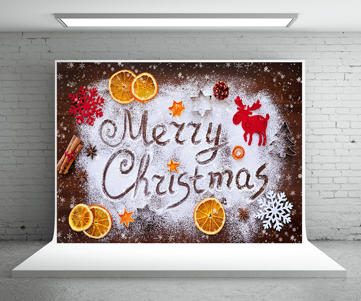 Merry Christmas Snowflake Photography Backdrops for Picture