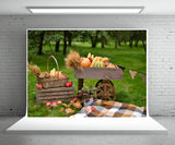 Autumn Pumpkin Photography Backdrop Prop for Picture