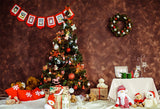 Brown Christmas Photography Backdrop for Picture