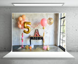 5th Birthday Photo Backdrop Decor for Party