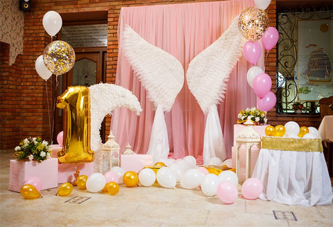 1st Angel Wing Photography Backdrop for Baby