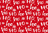 Snowflake Red HO Christmas Photography Backdrops