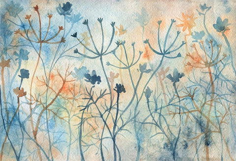 Abstract Branches Flowers Backdrops