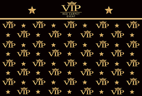 Black Photography Backdrops VIP for Party