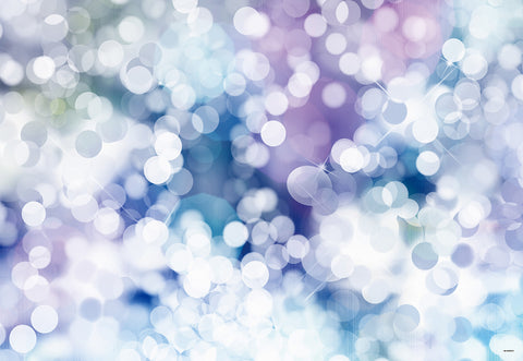 Blue Lavender Polka Bokeh Backdrop for Newborn