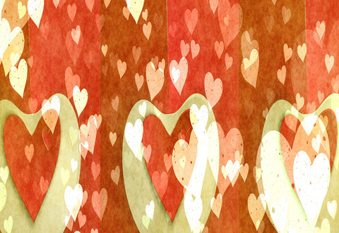 Valentine's Day Red Wedding Heart Backdrops