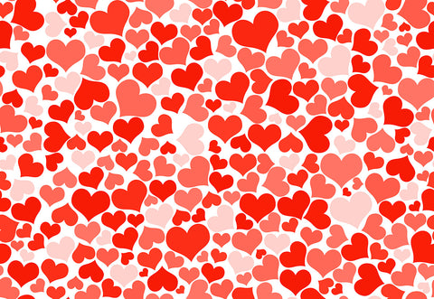 Red Heart Valentine's Day Photography Backdrops