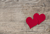 Vintage Wood Wall Red Heart Valentine's Day Backdrops