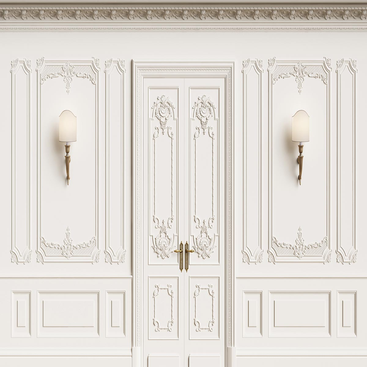 White Texture Vintage Door Wall Light Backdrop for Wedding