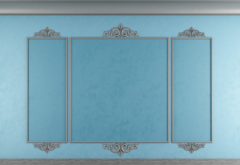 Light Blue Grey Rim Testure Wall Photography Backdrops Wedding