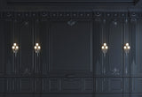 Dark Navy Blue Wall Light Texture Photography Backdrops for Wedding