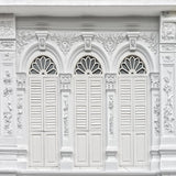 Carved White Door Art Wall  Backdrops for Wedding