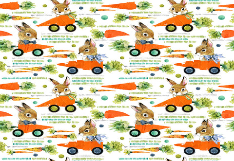 Carrot Car Rabbit Easter Photo Booth Prop Backdrops