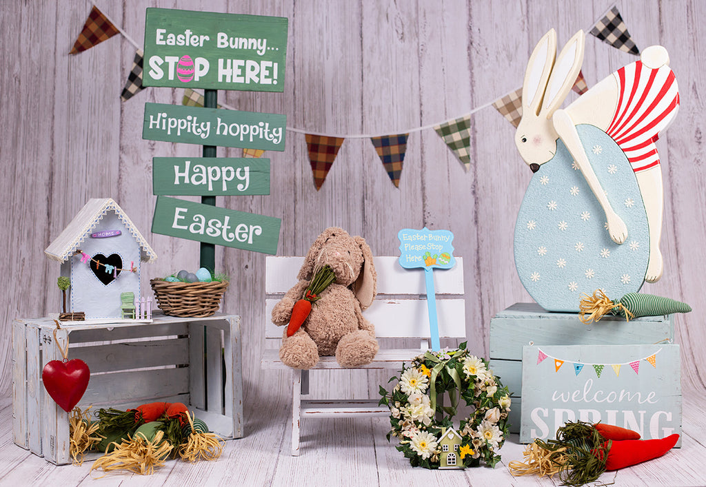 Spring Happy Easter Big Egg Photo Booth Prop Backdrops