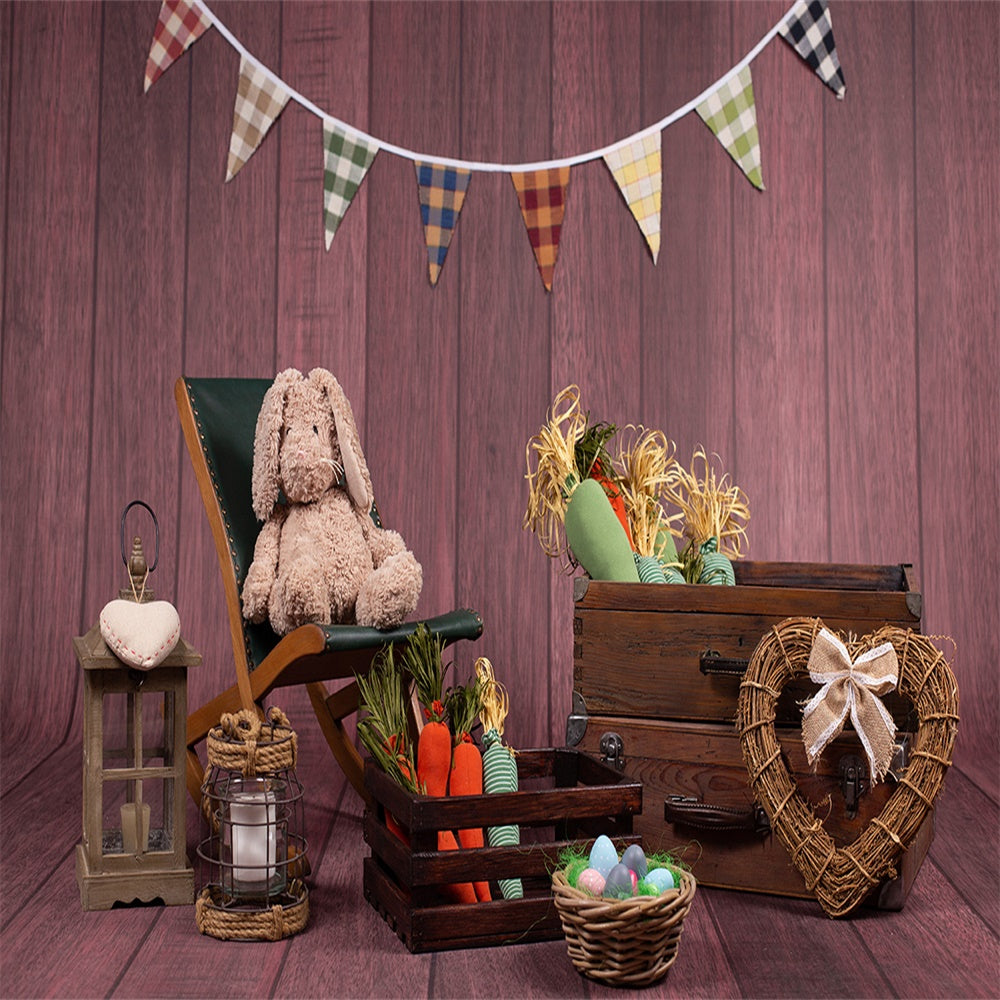 Old Brown Box Easter Photography Backdrop for Session