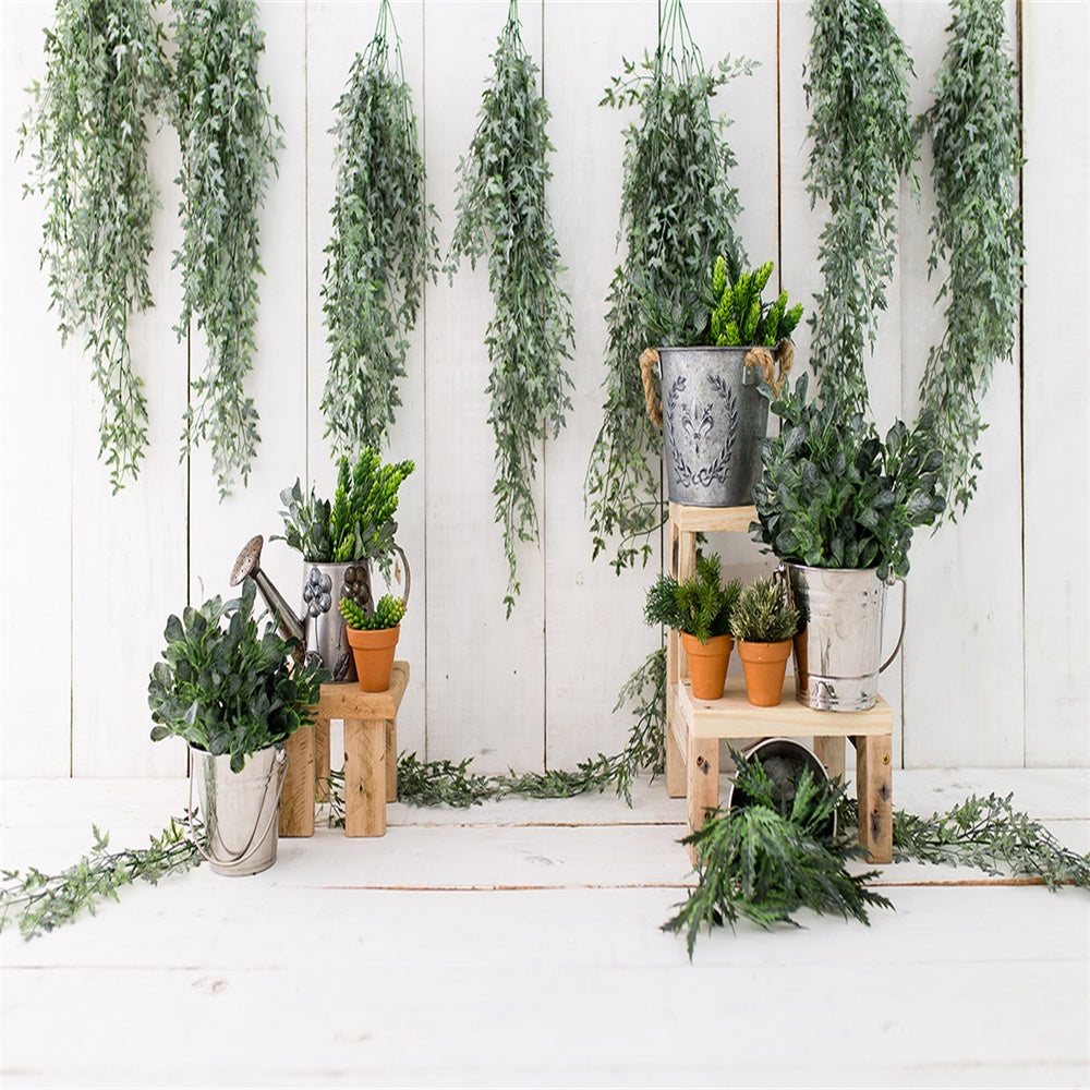 Spring Easter Garden White Wooden Photography Backdrops for Picture