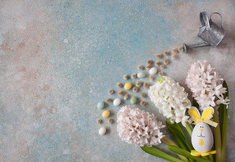 Flowers Eggs Easter Abstract Photo Backdrops