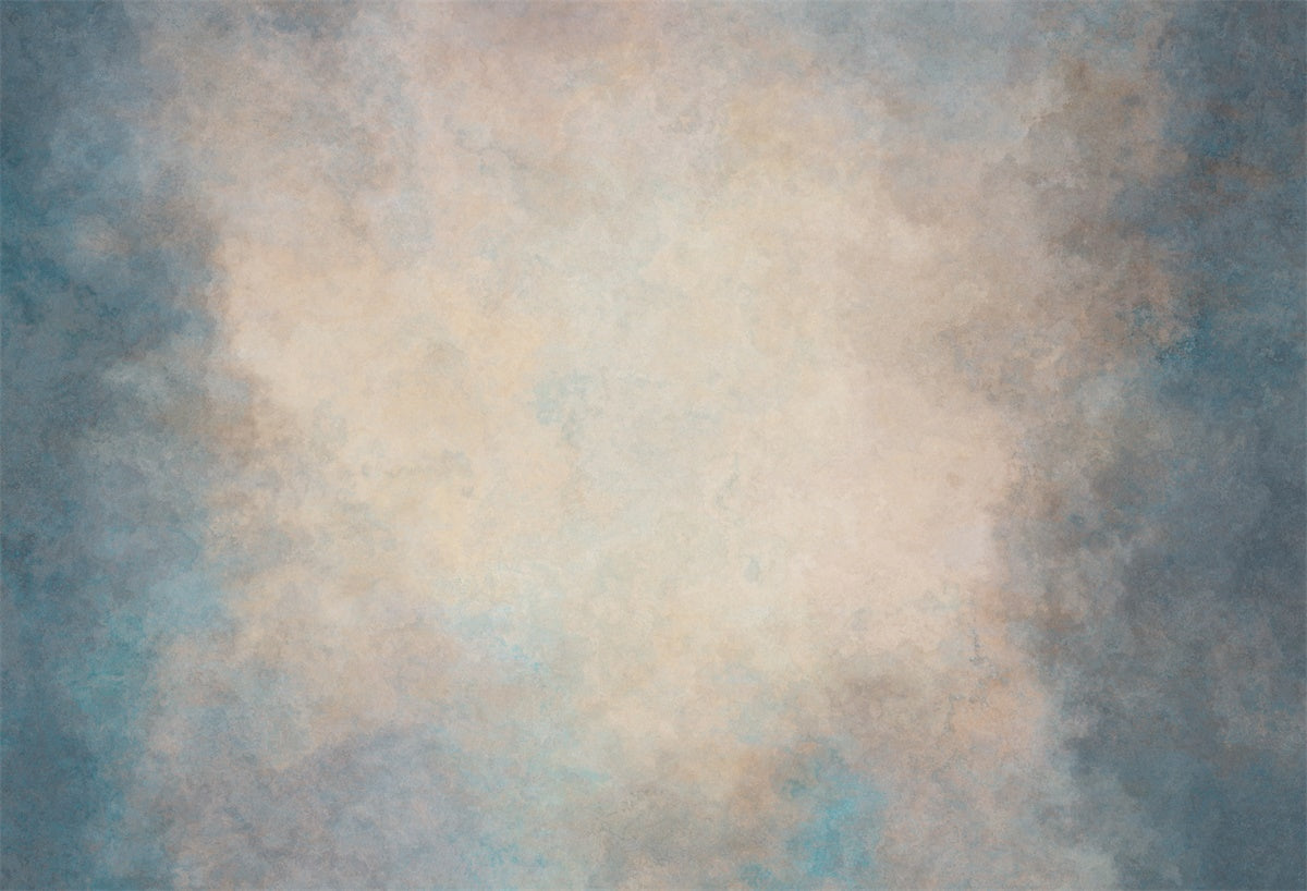 Rustic Abstract Blue Brown Portrait Photo Backdrop