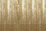 Light Gold Sequins Fabric Photography Backdrop for Party