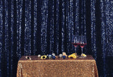 Navy Blue Sequins Fabric Photography Backdrop for Party