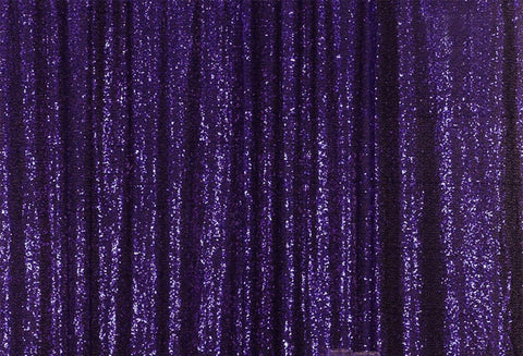 Purple Sequins Fabric Photography Backdrop for Party