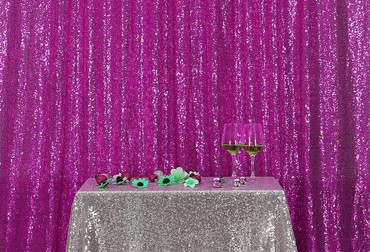 Rose Pink Sequins Fabric Photography Backdrop for Party