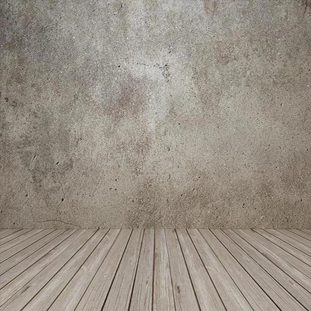 Abstract Wall Wood Floor Photo Backdrop for Studio