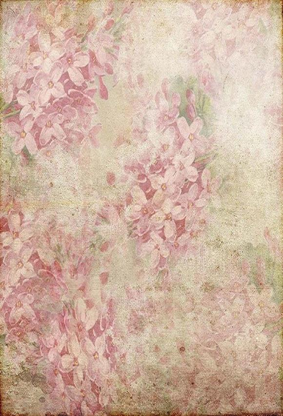 Watercolor Painting  Pink Background Printed Blurred Photography Backdrop
