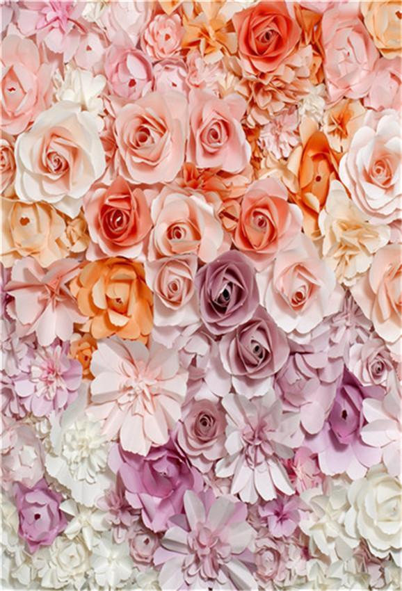 Floral Birthday Photo Booth Prop Backdrop for Baby Show