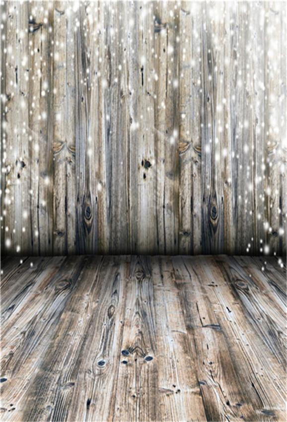 Grey Wood Wall Photography Backdrop for Christmas